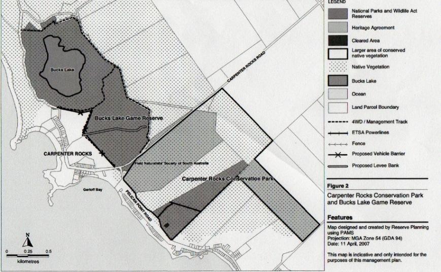 Carpenter Rocks map
