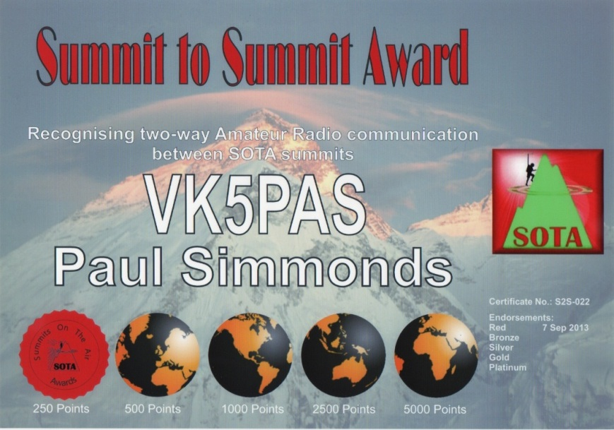 Summit to Summit Award