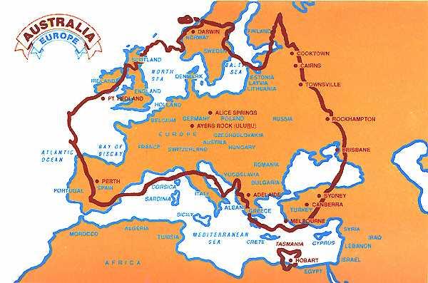 aust-europe-map
