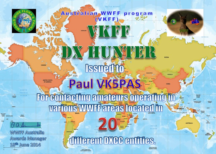 VK5PAS VKFF DX Hunter 20