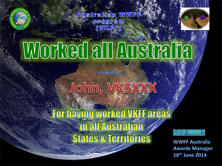 Worked All Australia example
