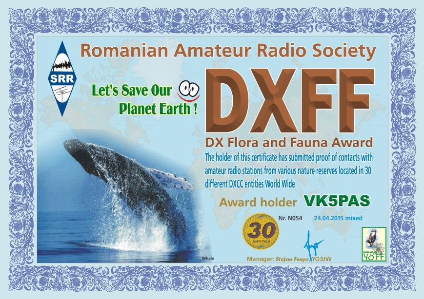 DXFF 30 VK5PAS 2015 N054 M