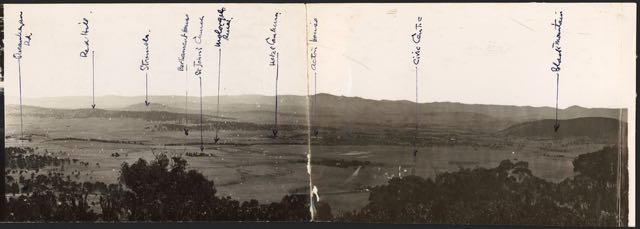 [Panorama of the site for Canberra taken from Mt. Ainslie, 1910s] [picture] /