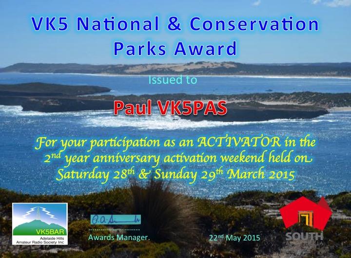 VK5PAS participation