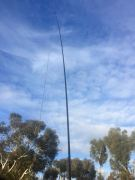 40m/20m linked dipole on 7m squid pole