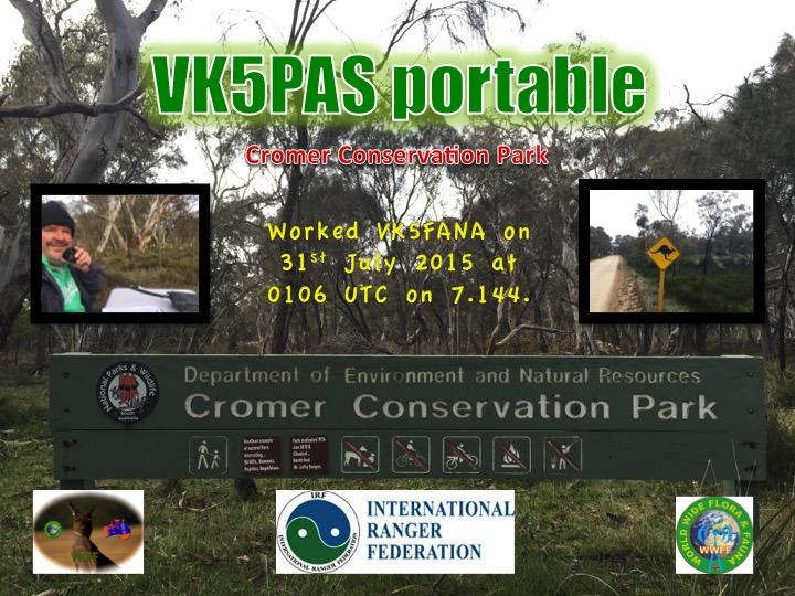 VK5FANA Cromer CP QSL card