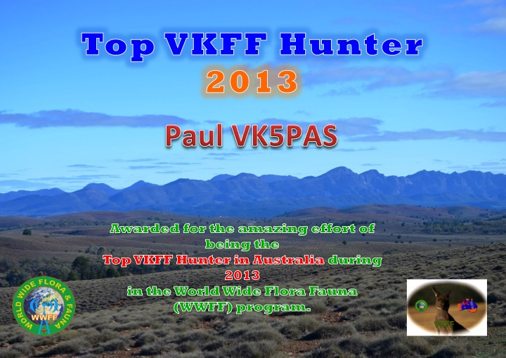 VK5PAS Top Hunter 2013