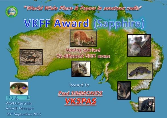 VK5PAS Sapphire VKFF Hunter