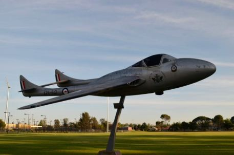de Havilland Vampire at Wagga Wagga