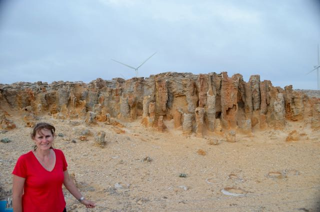Marija at the 'Petrified Forest'