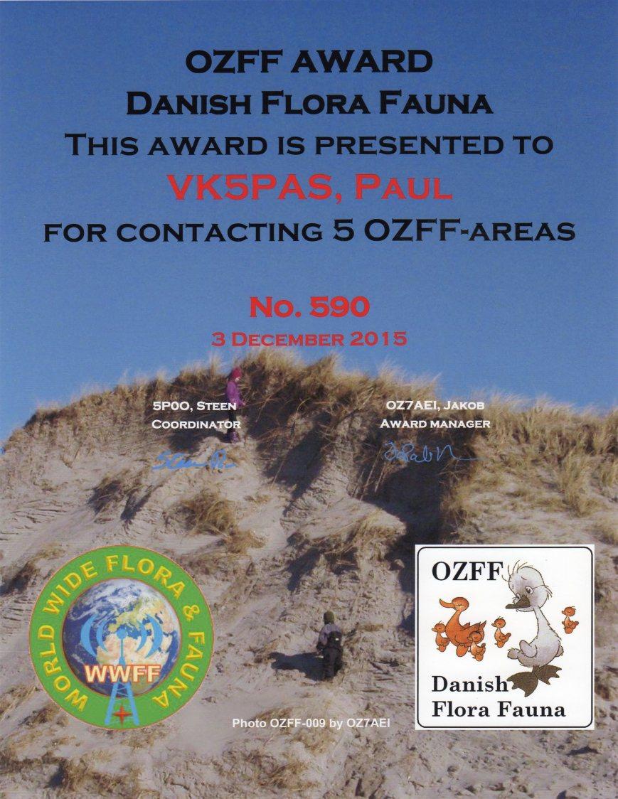 OZFF Award160