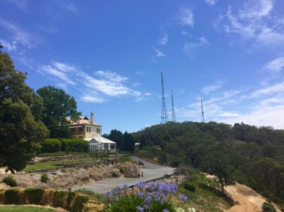 Mount Lofty House with the TV towers in the background