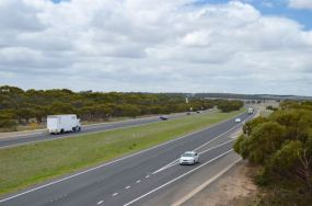 The South Eastern Freeway from the overpass