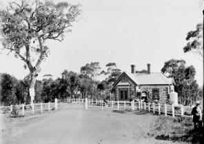 Park entrance, c. 1900