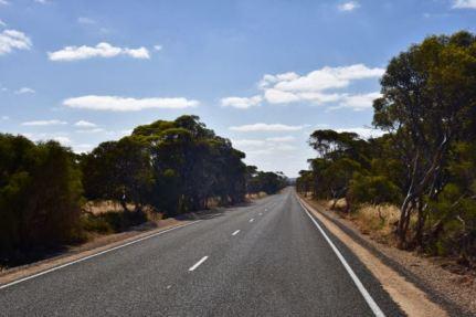 The newly bitumised White Road