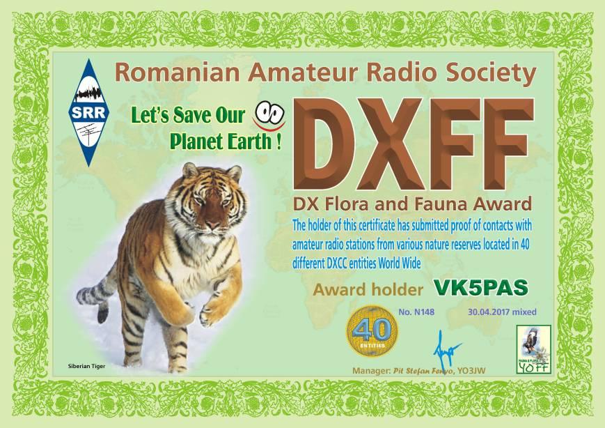 DXFF 40 M 2017 VK5PAS N148