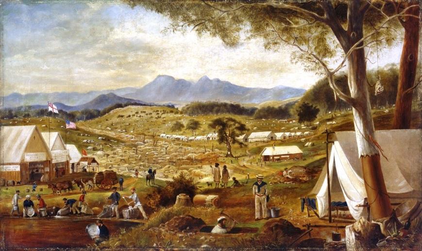 Edward_Roper_-_Gold_diggings,_Ararat,_1854