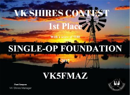 VK5FMAZ 2017 VK Shires