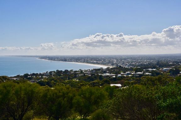 The view north along the Adelaide coastline