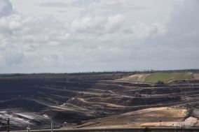 The open cut mine at Loy Yang