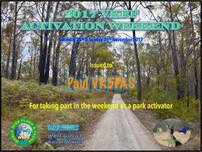 2017 VKFF Activation Weekend