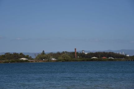 Looking across the Port River to the old quarantine station on Torrens Island