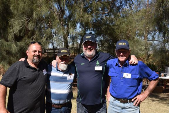 L-R: Bill VK5MBD, John VK5MJC, myself, & Roger VK5WE