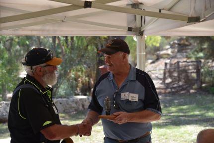 Grant VK5VGC receiving his award