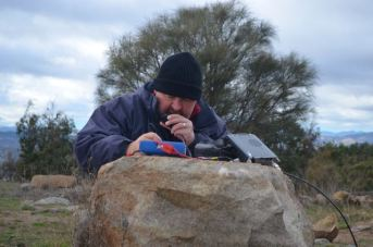 On air at Mount Stromlo VK1/ AC-043