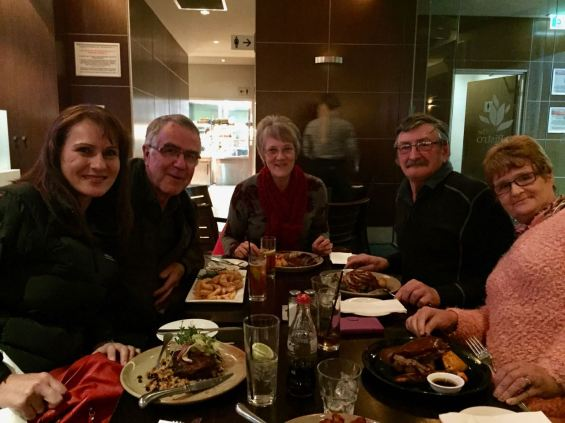 Out for tea with Ted VK6NTE and his wife Jen, and David VK5KC and his wife Joy