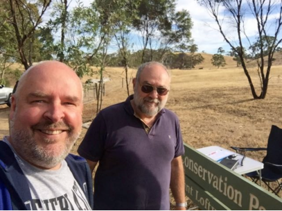 with Greg VK5GJ at Bullock Hill Conservation Park