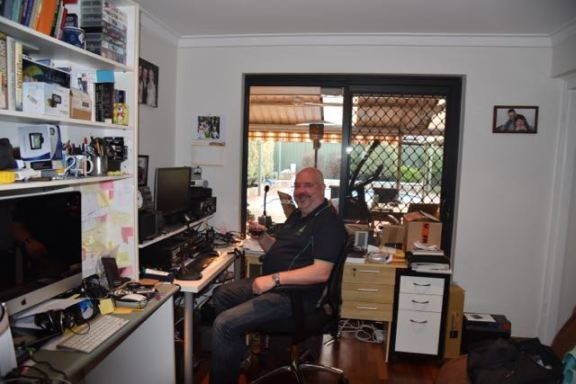 In the shack of Andrew VK6AS