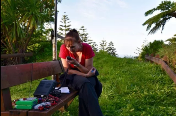 Marija activating Mount Bates VK9/ NO-001