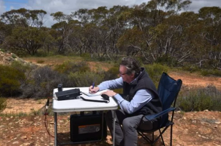 Andrew operating in the Peebinga Conservation park