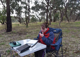 Marija on air at Sturt Gorge Recreation Park
