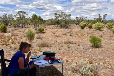 Marija on air at the Brookfield Conservation Park