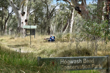 On air at the Hogwash Bend Conservation Park