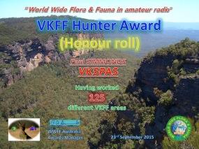 VK5PAS VKFF Hunter Honour Roll 125