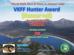 VK5PAS VKFF Hunter Honour Roll 200
