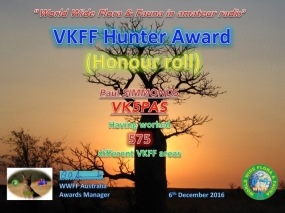 VK5PAS VKFF Hunter Honour Roll 575