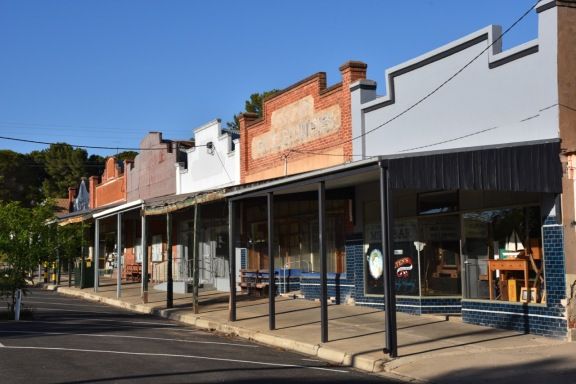 The old shops in Reed Street, Murrayville