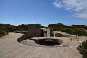 A circular gun emplacement