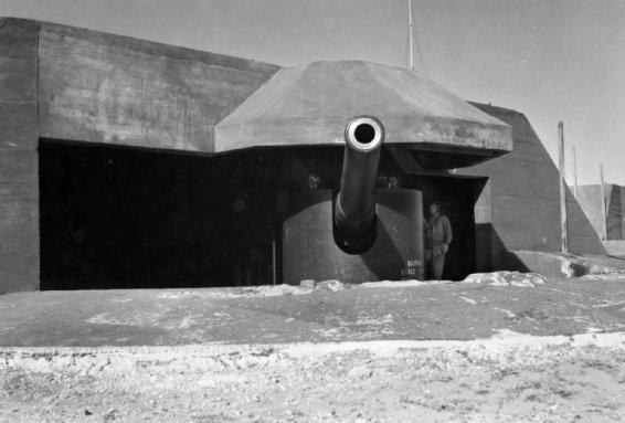 6 inch Mk VII gun in 1943