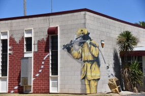 Mural on the Country Fire Authority fire station