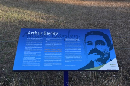 Information board for Arthur Bayley