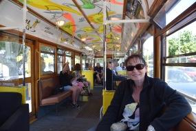 On board the tram