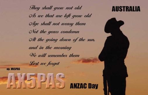 AX5PAS (Anzac Day)