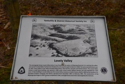Lovely Valley info sign