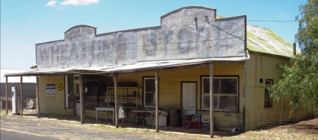 The old store at Miram. Image courtesy of 'Wimmera Way back when'
