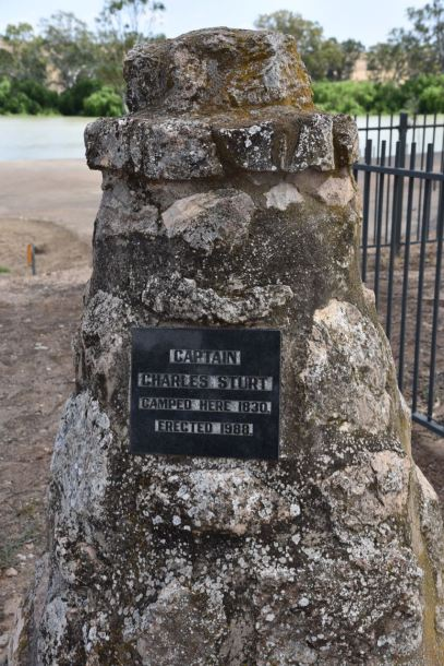 Monument for explorer Captain Sturt